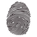black and white fingerprint image